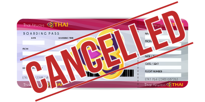cancel TG ticket
