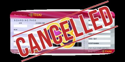 cancel TG ticket