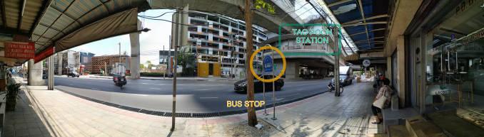 タオ・プーン バス停