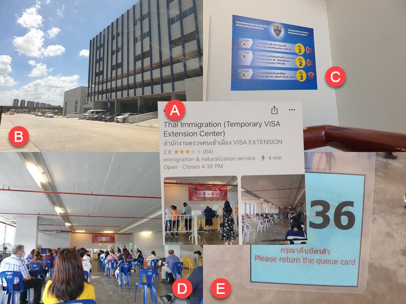 temporary visa extension center