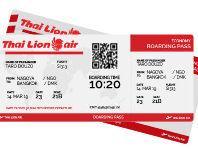 ThaiLion Boarding Pass